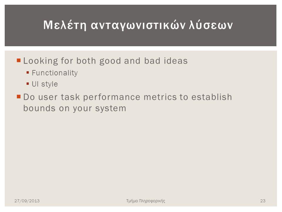 Μελέτη ανταγωνιστικών λύσεων