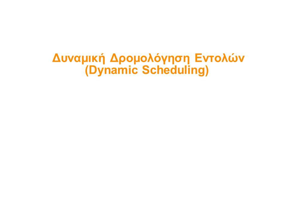 Δυναμική Δρομολόγηση Εντολών (Dynamic Scheduling)