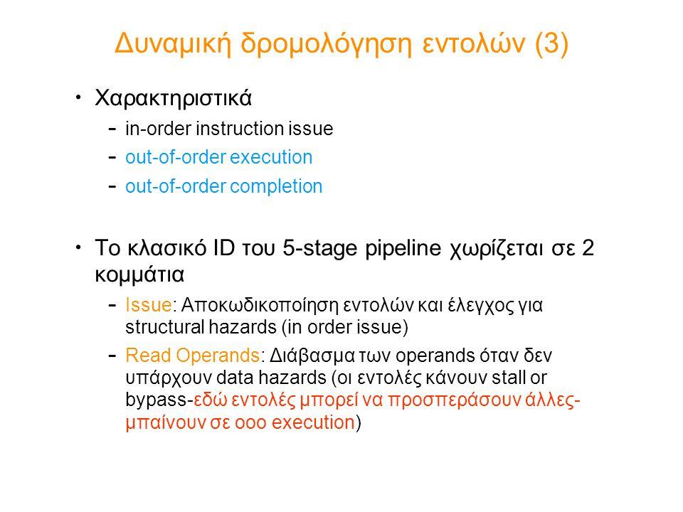 Δυναμική δρομολόγηση εντολών (3)