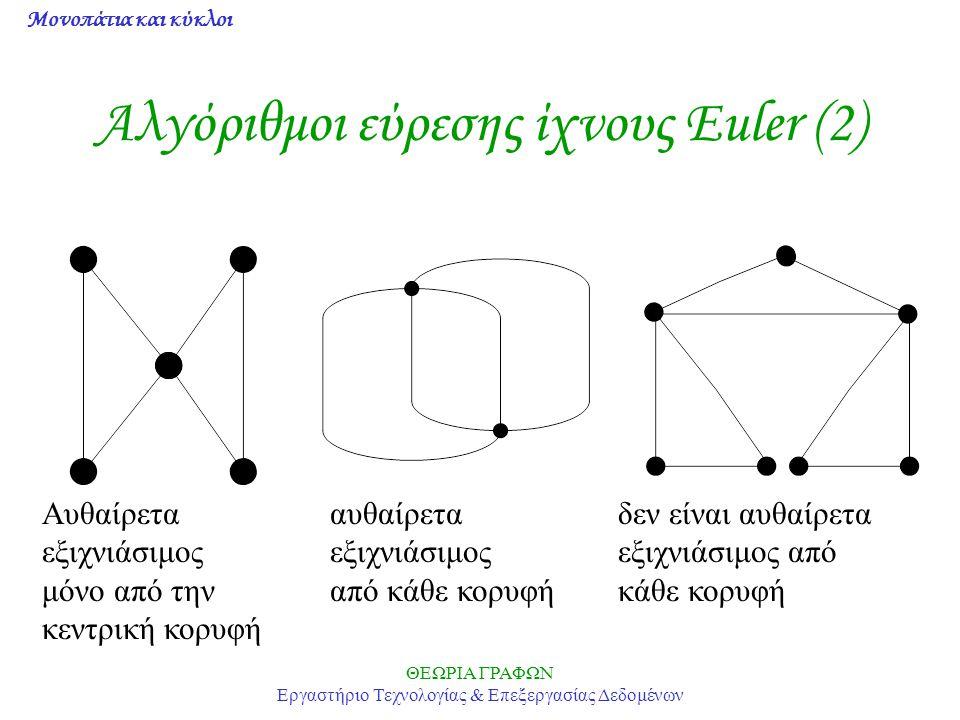 Αλγόριθμοι εύρεσης ίχνους Euler (2)