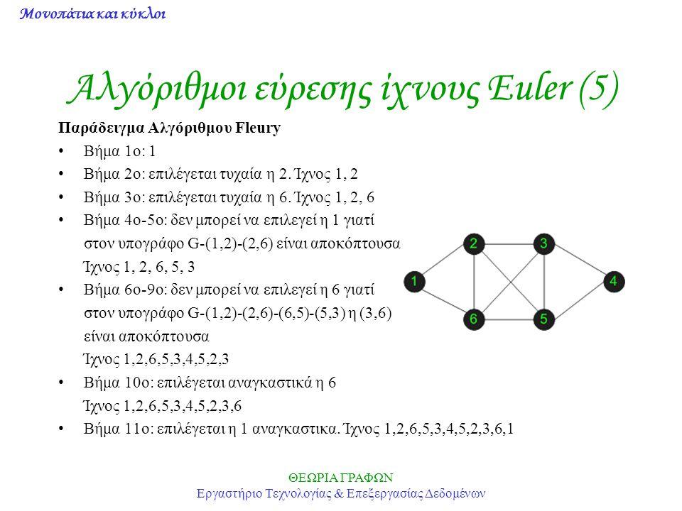 Αλγόριθμοι εύρεσης ίχνους Euler (5)
