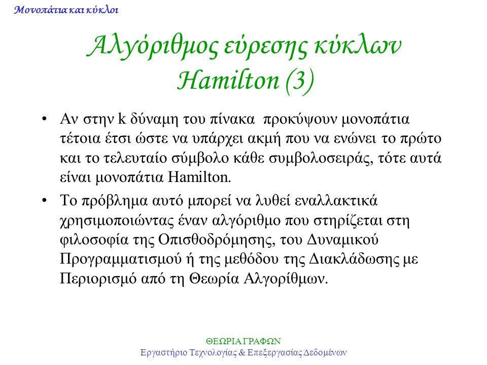 Αλγόριθμος εύρεσης κύκλων Hamilton (3)