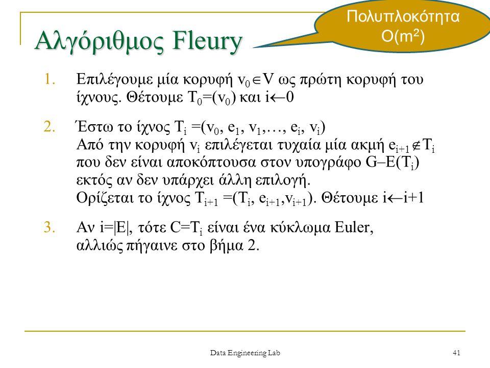 Αλγόριθμος Fleury Πολυπλοκότητα Ο(m2)