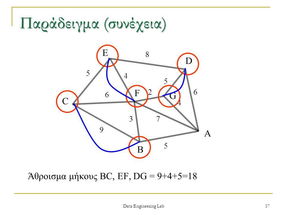 Άθροισμα μήκους BC, EF, DG = 9+4+5=18