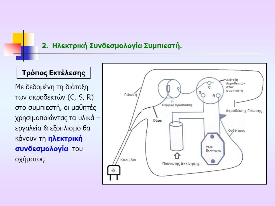 Ηλεκτρική Συνδεσμολογία Συμπιεστή.