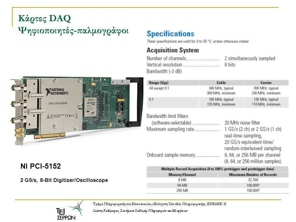 Κάρτες DAQ Ψηφιοποιητές-παλμογράφοι