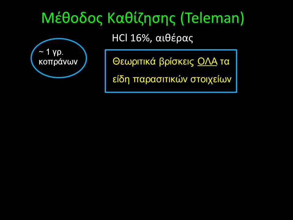 Μέθοδος Καθίζησης (Teleman)