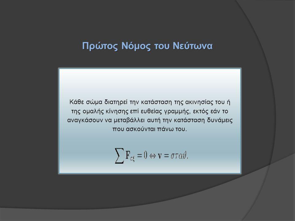 Πρώτος Νόμος του Νεύτωνα