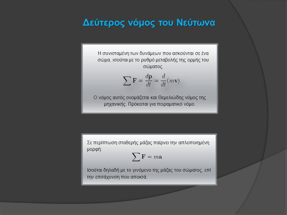 Δεύτερος νόμος του Νεύτωνα