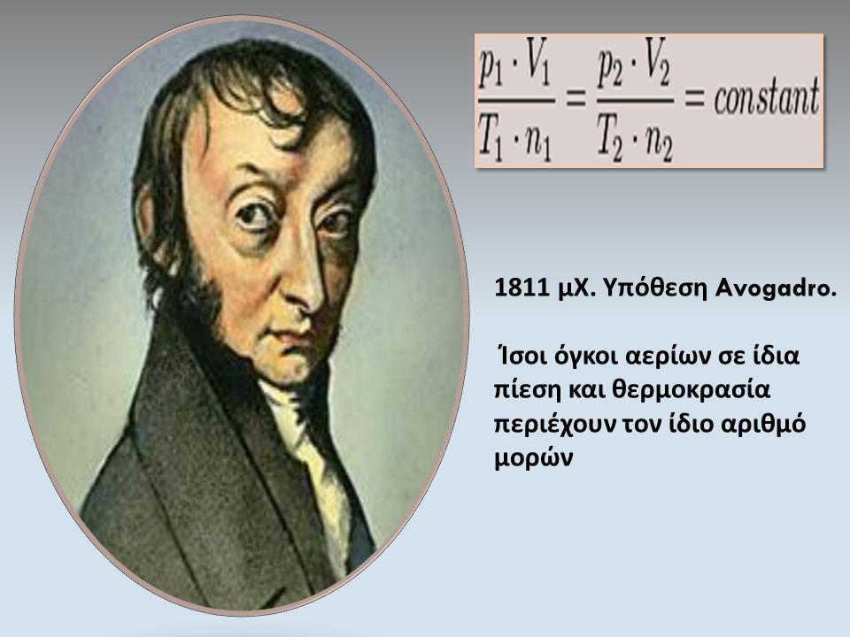 1811 μΧ. Υπόθεση Avogadro.