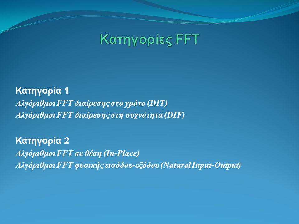 Κατηγορίες FFT Κατηγορία 1 Κατηγορία 2