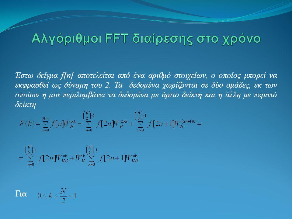 Αλγόριθμοι FFT διαίρεσης στο χρόνο