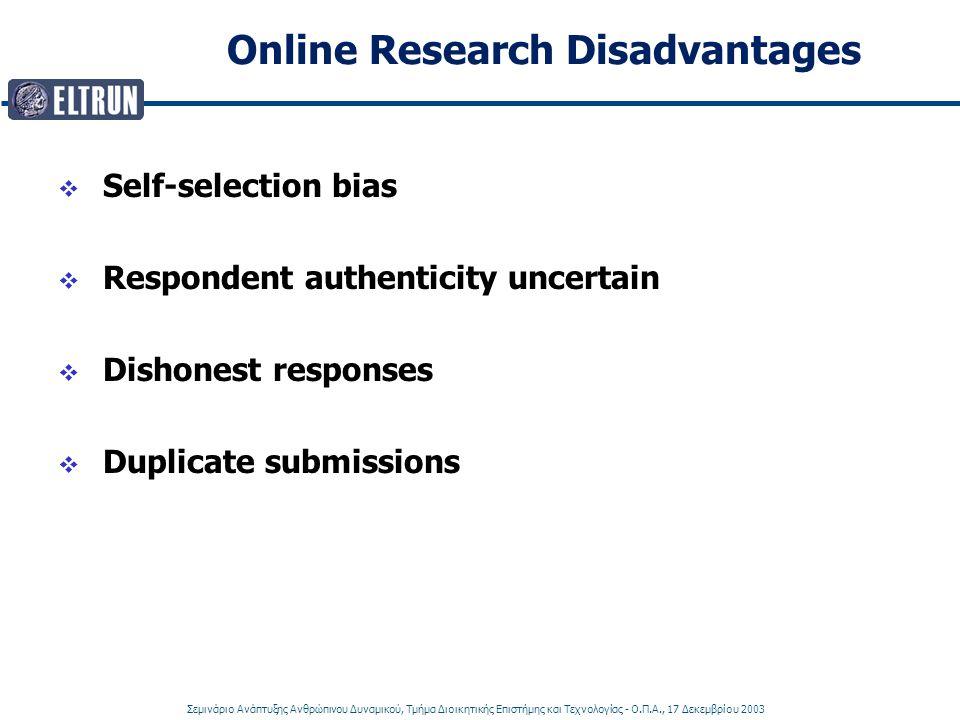 Online Research Disadvantages