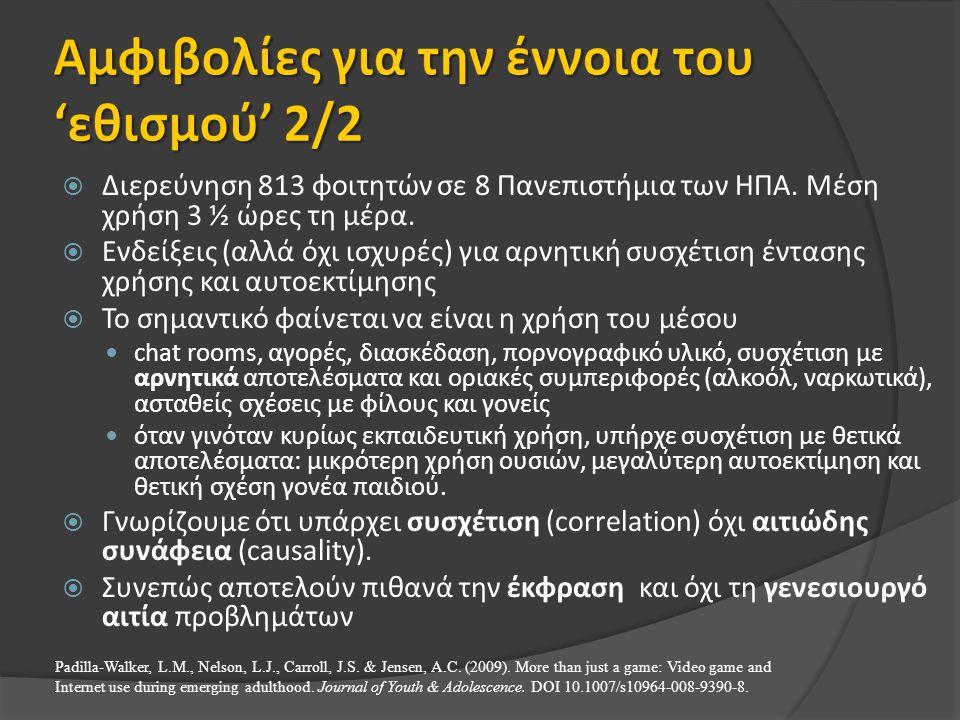 Αμφιβολίες για την έννοια του 'εθισμού' 2/2