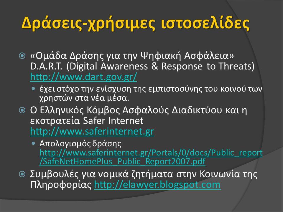 Δράσεις-χρήσιμες ιστοσελίδες