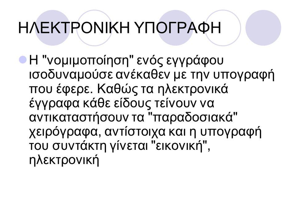 ΗΛΕΚΤΡΟΝΙΚΗ ΥΠΟΓΡΑΦΗ