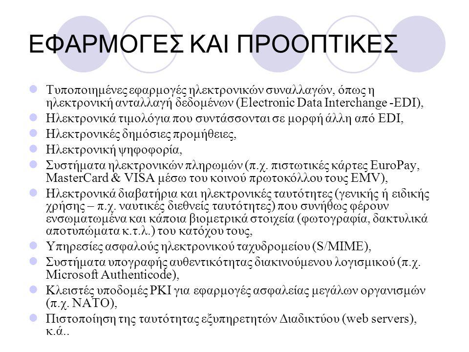 ΕΦΑΡΜΟΓΕΣ ΚΑΙ ΠΡΟΟΠΤΙΚΕΣ
