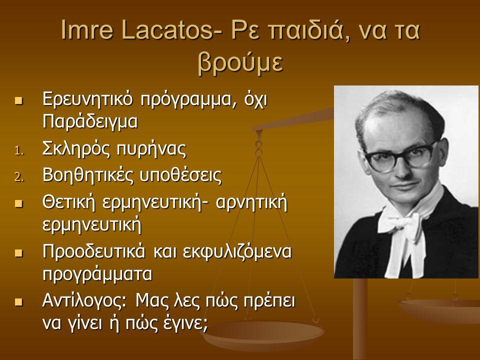 Imre Lacatos- Ρε παιδιά, να τα βρούμε