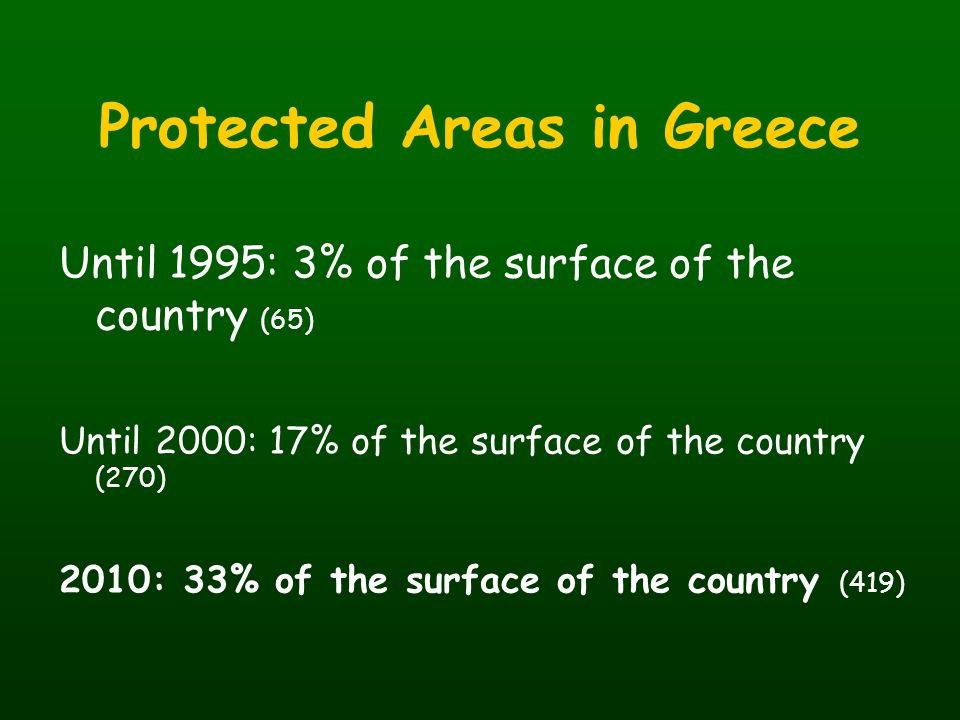 Protected Areas in Greece