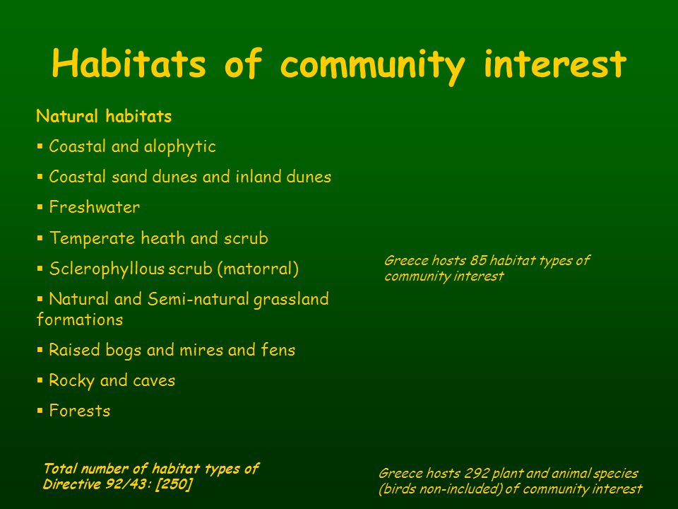 Habitats of community interest