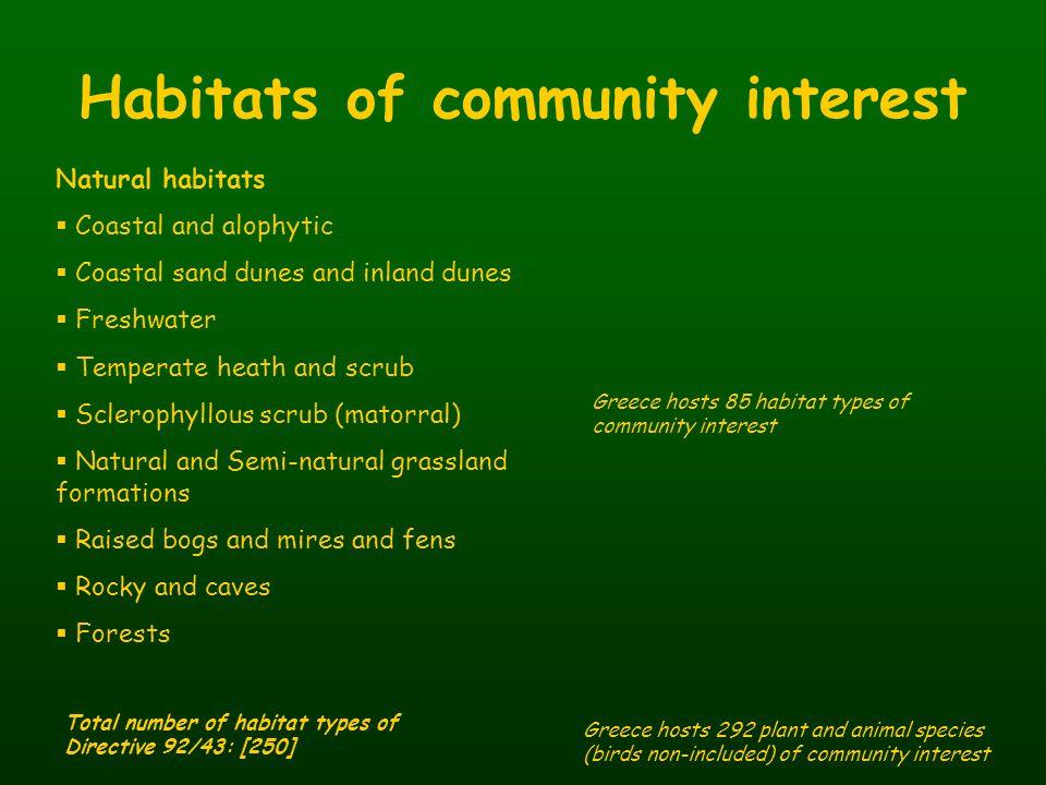 Habitats of community interest