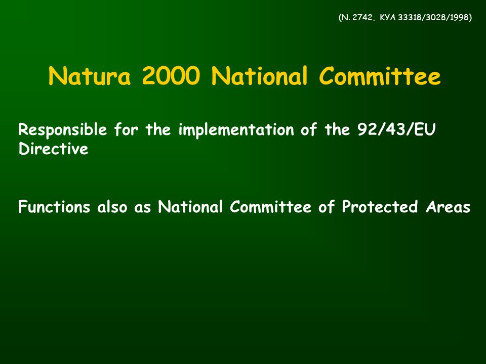 Natura 2000 National Committee