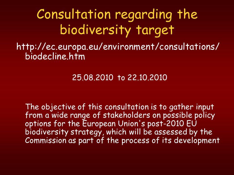Consultation regarding the biodiversity target