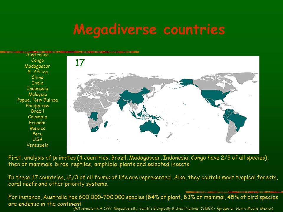 Megadiverse countries