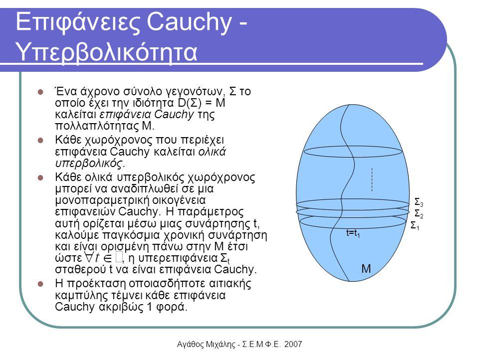 Επιφάνειες Cauchy - Υπερβολικότητα