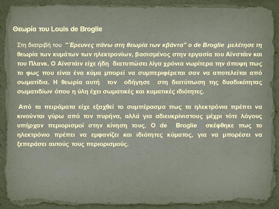 Θεωρία του Louis de Broglie