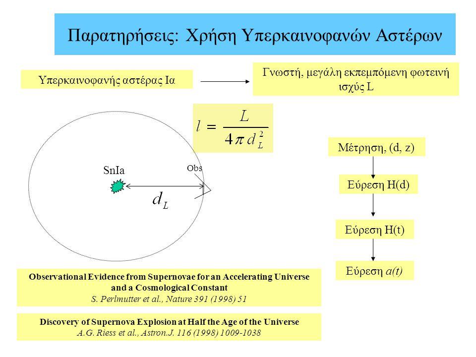 Παρατηρήσεις: Χρήση Υπερκαινοφανών Αστέρων