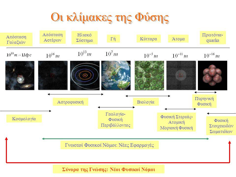 Σύνορα της Γνώσης: Νέοι Φυσικοί Νόμοι
