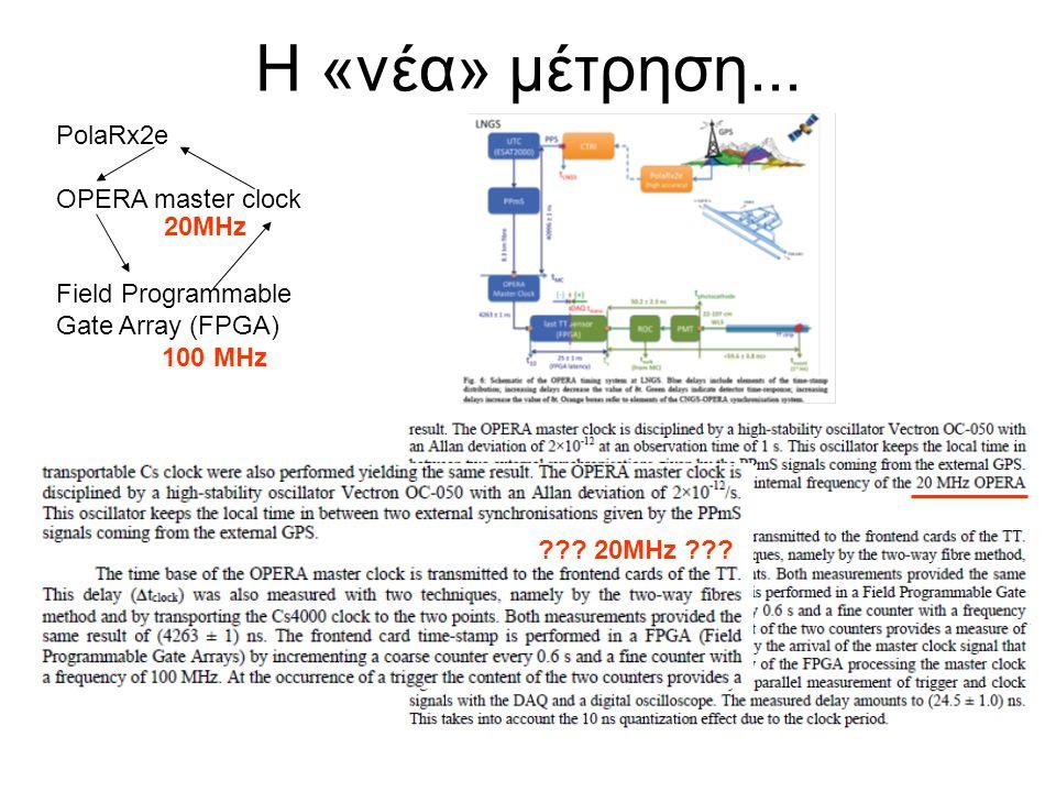 Η «νέα» μέτρηση... PolaRx2e OPERA master clock