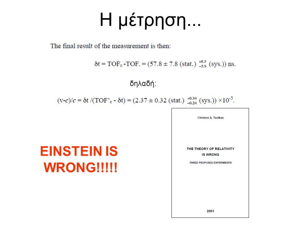 Η μέτρηση... δηλαδή: EINSTEIN IS WRONG!!!!!