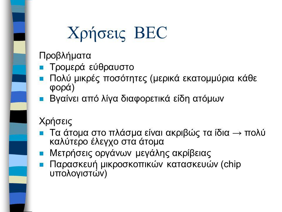 Χρήσεις BEC Προβλήματα Τρομερά εύθραυστο