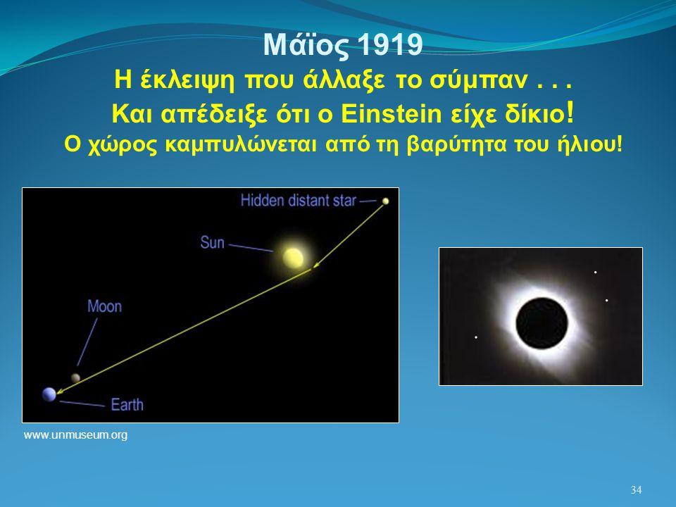 Μάϊος 1919 Η έκλειψη που άλλαξε το σύμπαν . . .