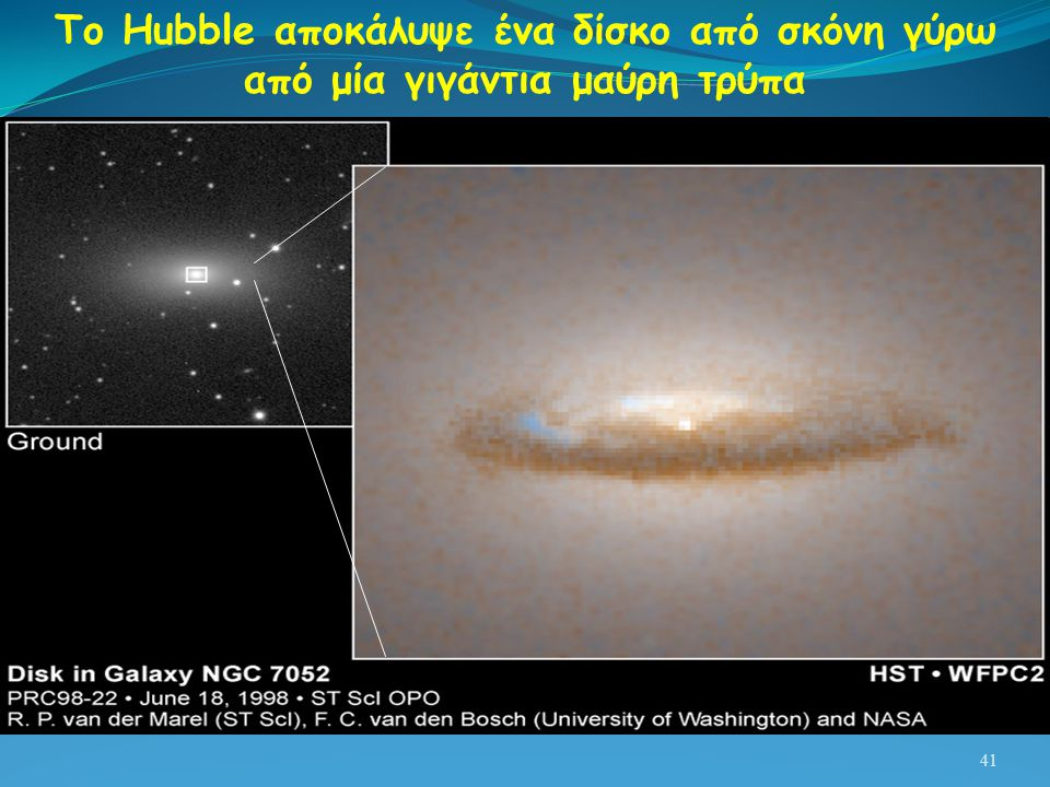 Το Hubble αποκάλυψε ένα δίσκο από σκόνη γύρω