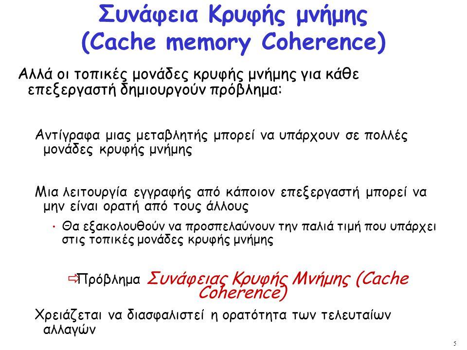 Συνάφεια Κρυφής μνήμης (Cache memory Coherence)
