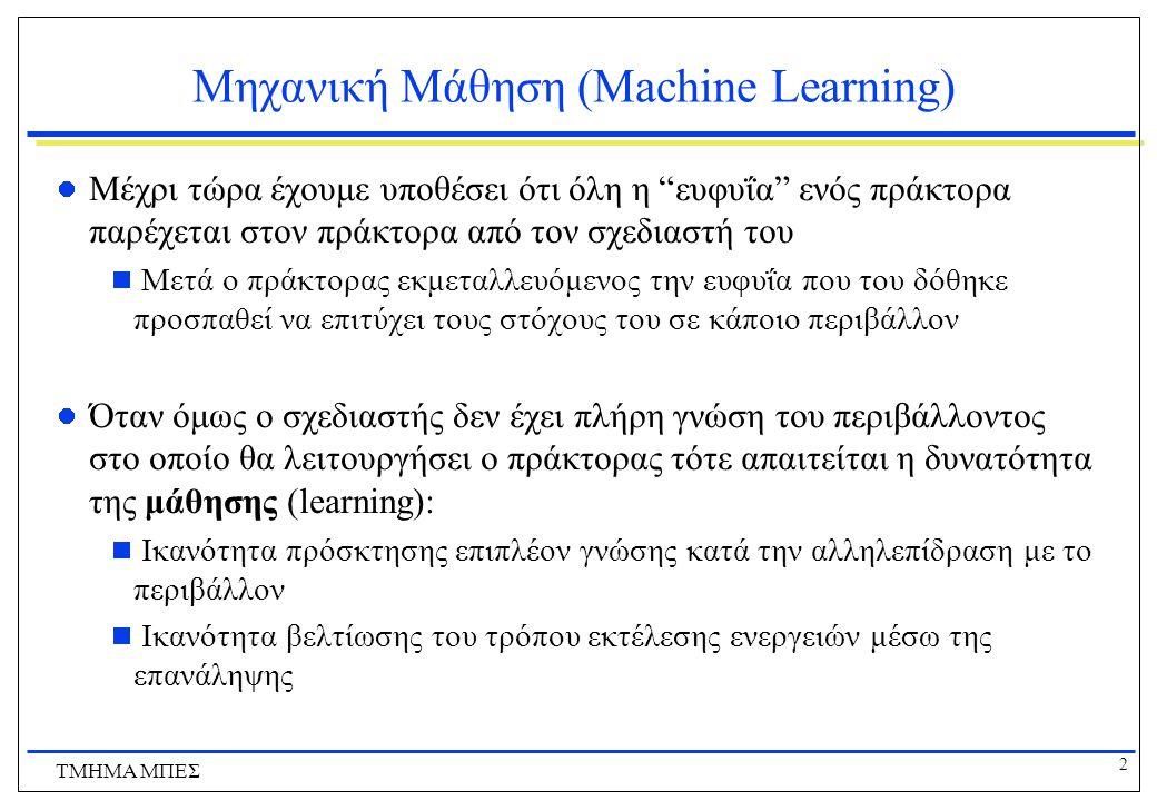 Μηχανική Μάθηση (Machine Learning)