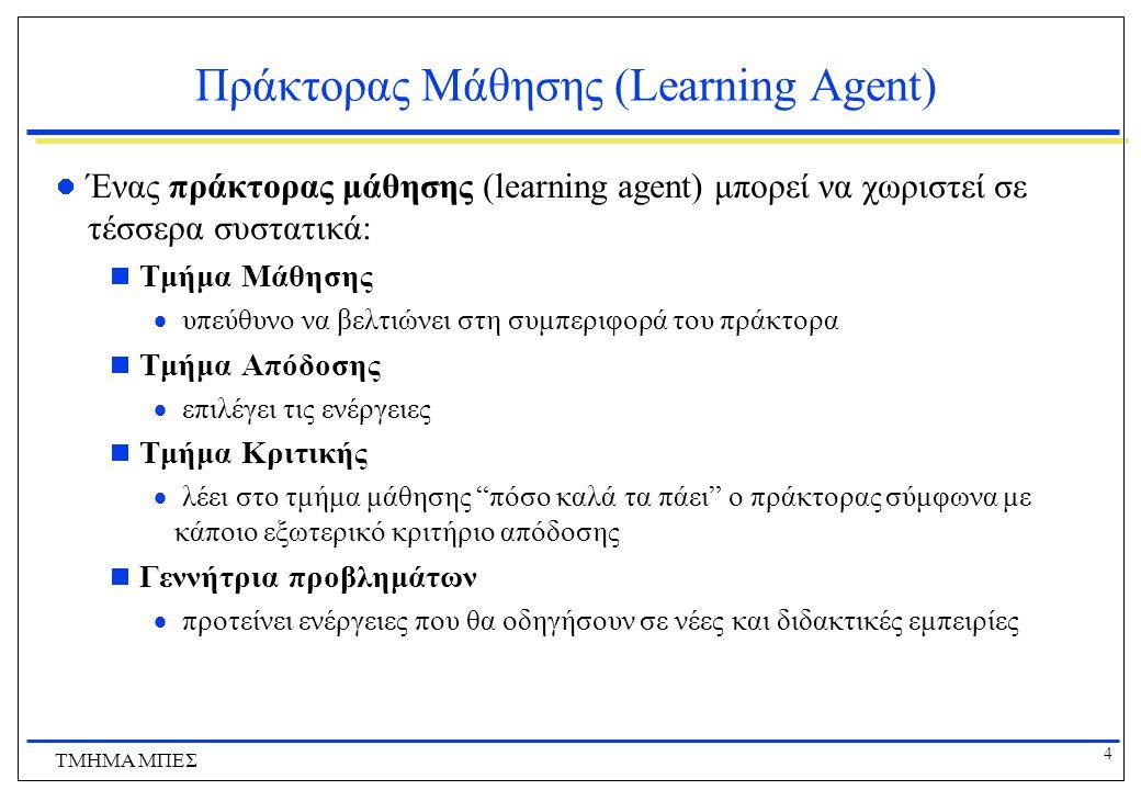 Πράκτορας Μάθησης (Learning Agent)