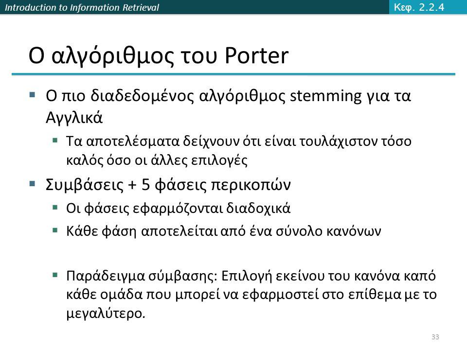 Ο αλγόριθμος του Porter