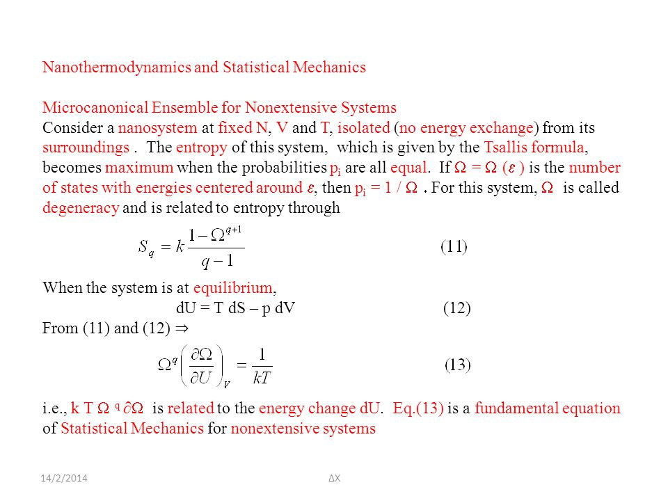 Nanothermodynamics and Statistical Mechanics