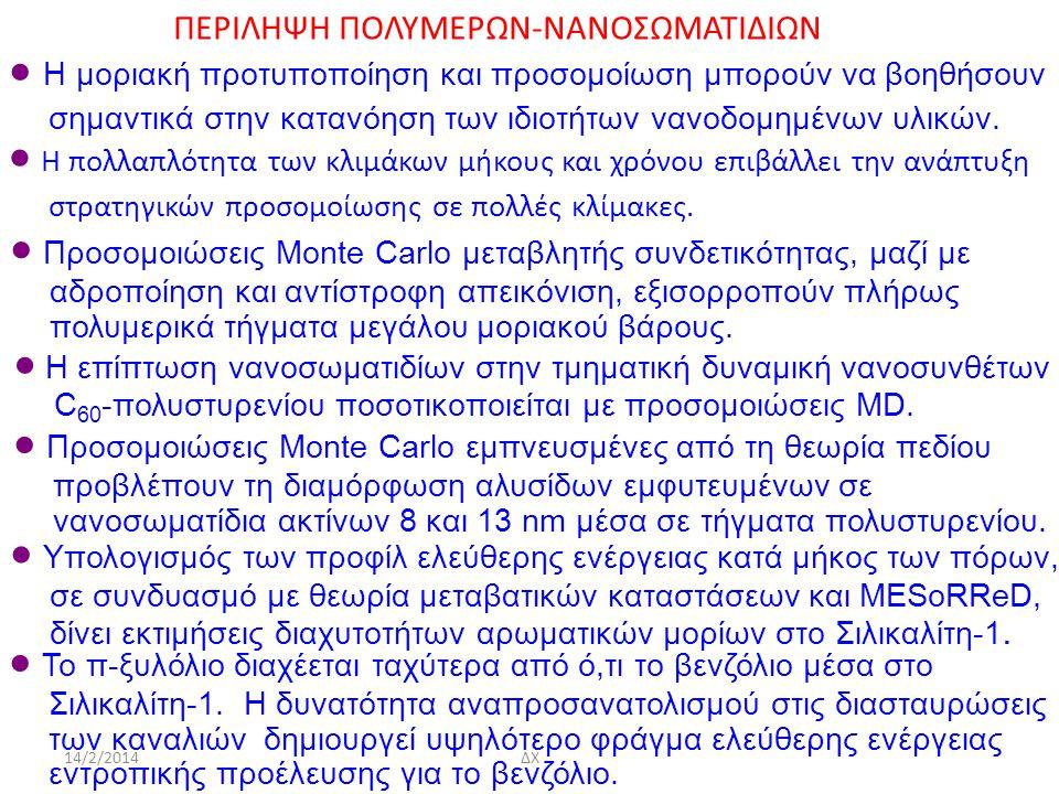 ΠΕΡΙΛΗΨΗ ΠΟΛΥΜΕΡΩΝ-ΝΑΝΟΣΩΜΑΤΙΔΙΩΝ