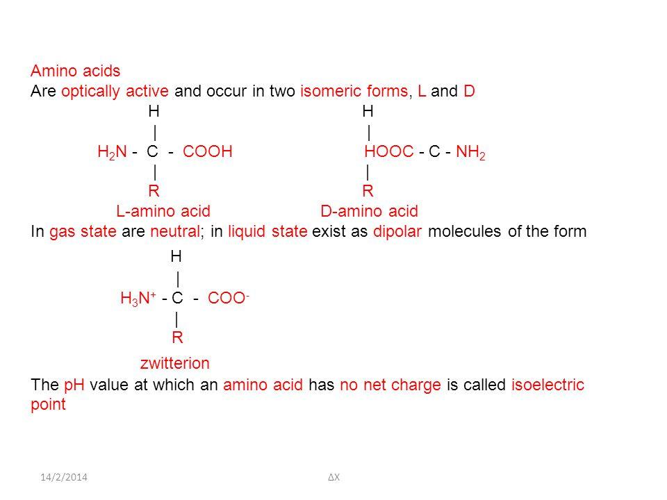 zwitterion Amino acids