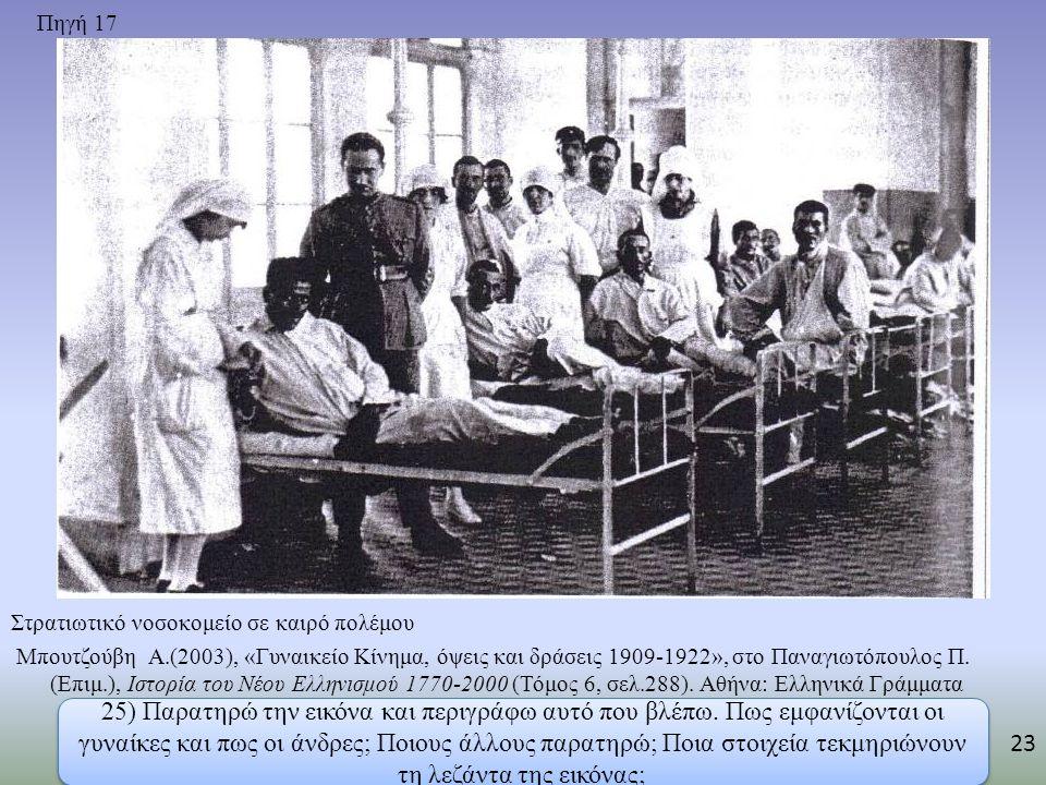 Πηγή 17 Στρατιωτικό νοσοκομείο σε καιρό πολέμου.