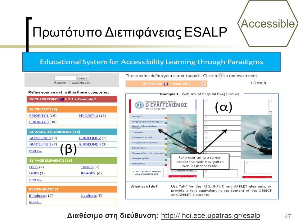 Πρωτότυπο Διεπιφάνειας ESALP