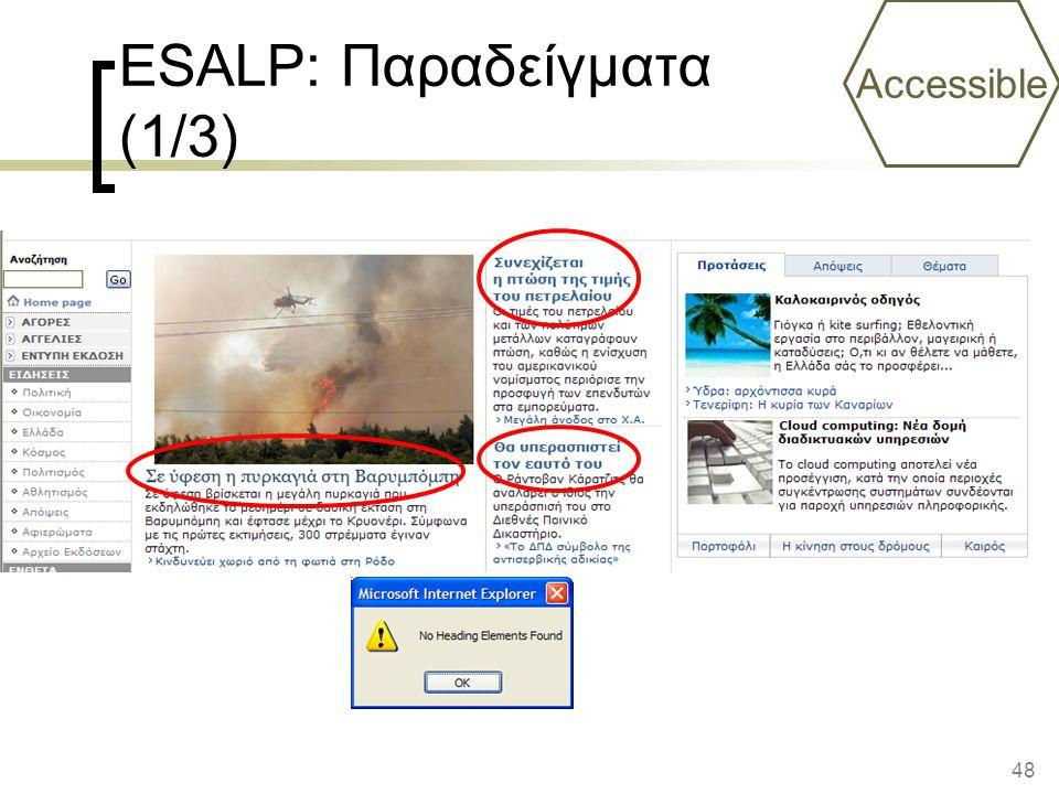 ESALP: Παραδείγματα (1/3)