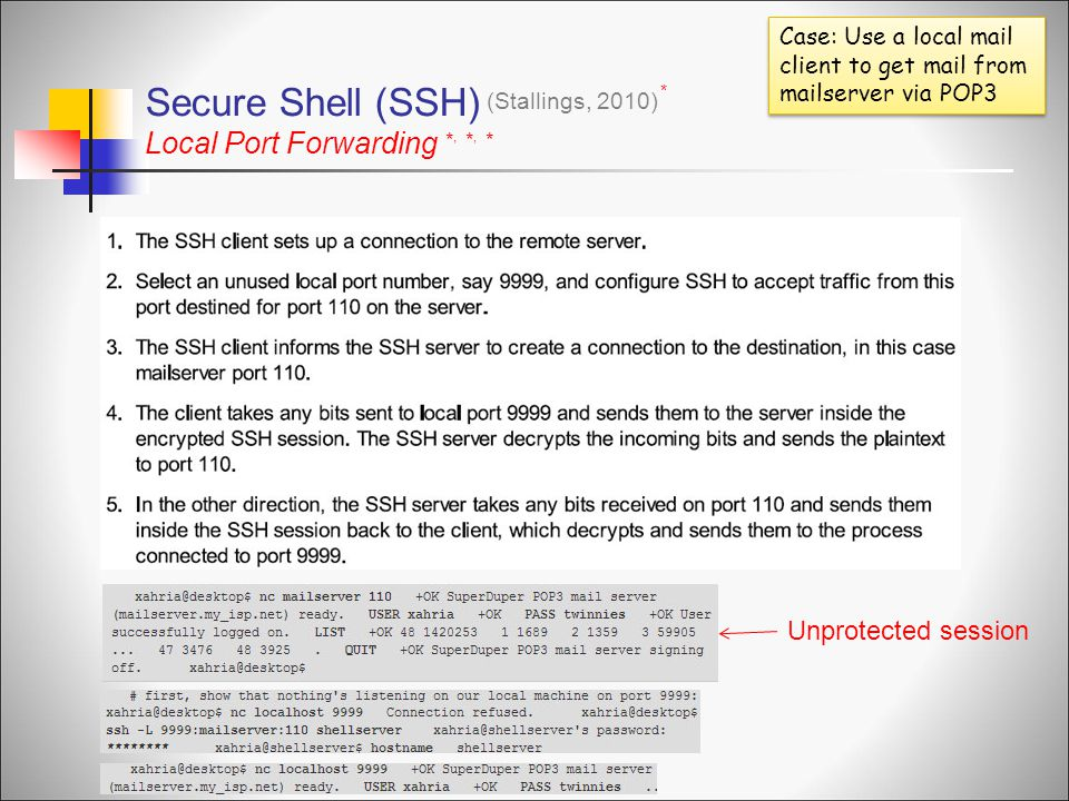 Secure Shell (SSH) Local Port Forwarding