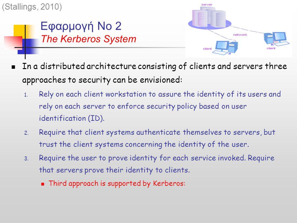 Εφαρμογή Νο 2 The Kerberos System