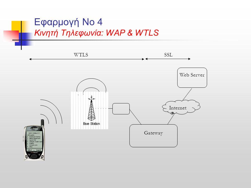 Εφαρμογή Νο 4 Κινητή Τηλεφωνία: WAP & WTLS